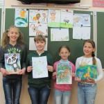 Призеры конкурса рисунов Зеленый патруль